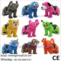 Coin Operated Electric Battery Plush Walking Animal Ride For Sale