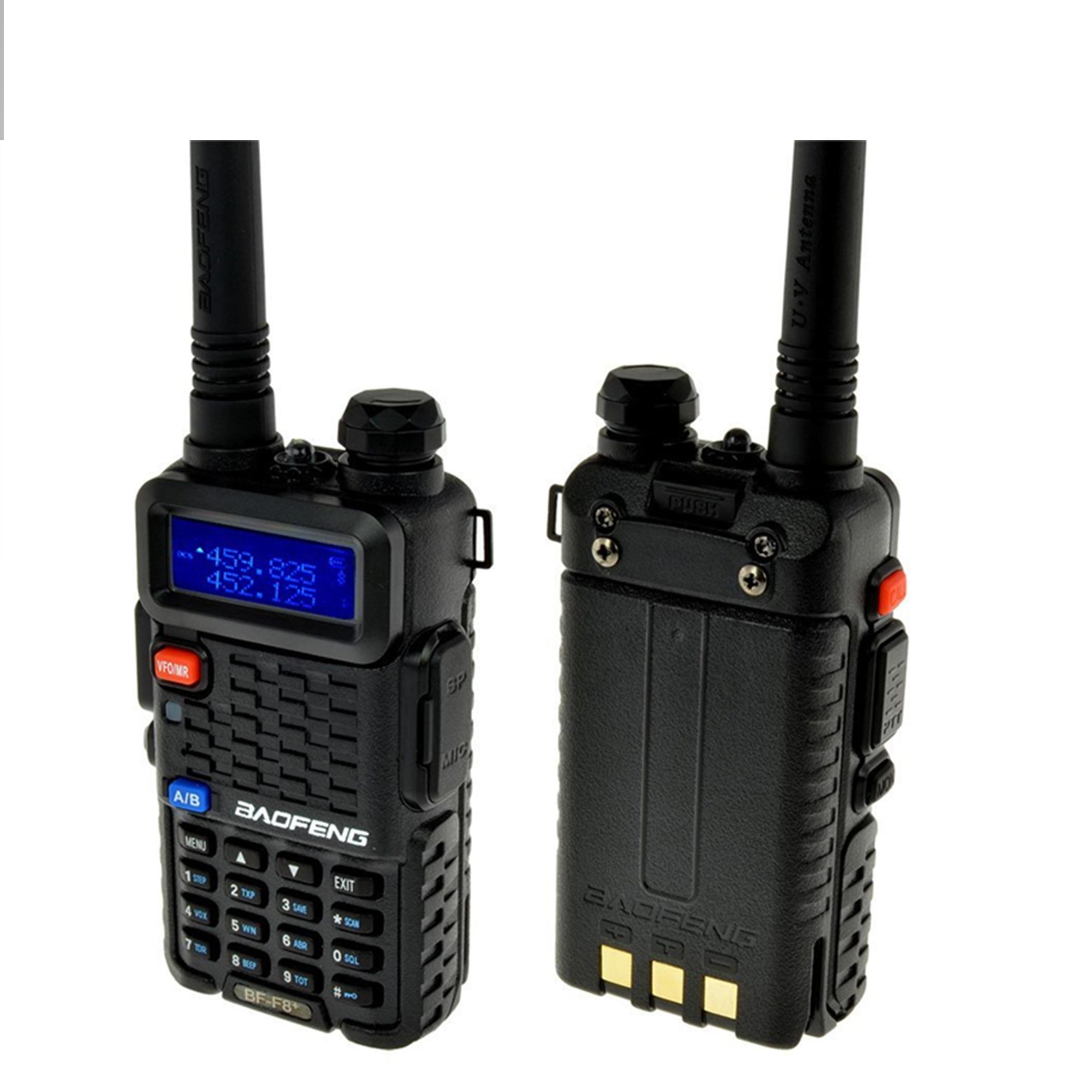 bilder für 2 teile/satz Baofeng BF F8 + Walkie Talkie Tragbaren Radios 5 Watt 128CH Dual Band Zweiwegradio UHF VHF FM VOX Pofung BF F8 Dual Display