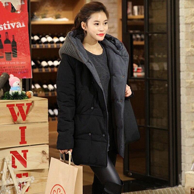 2018 Zeitlich begrenzte Angebot Mäntel Casual Parkas Winter Jacke Frauen Mit Kapuze Wadded Padded Weibliche Maxi Mantel Lose Plus größe