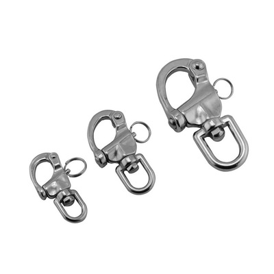 Marine Hardware Stainless Steel 360 Degrees Swivel Snap Hook Shackle Indoor Outdoor Hanging Hammock Traction Rope Buckle Boat Rigging Hardware