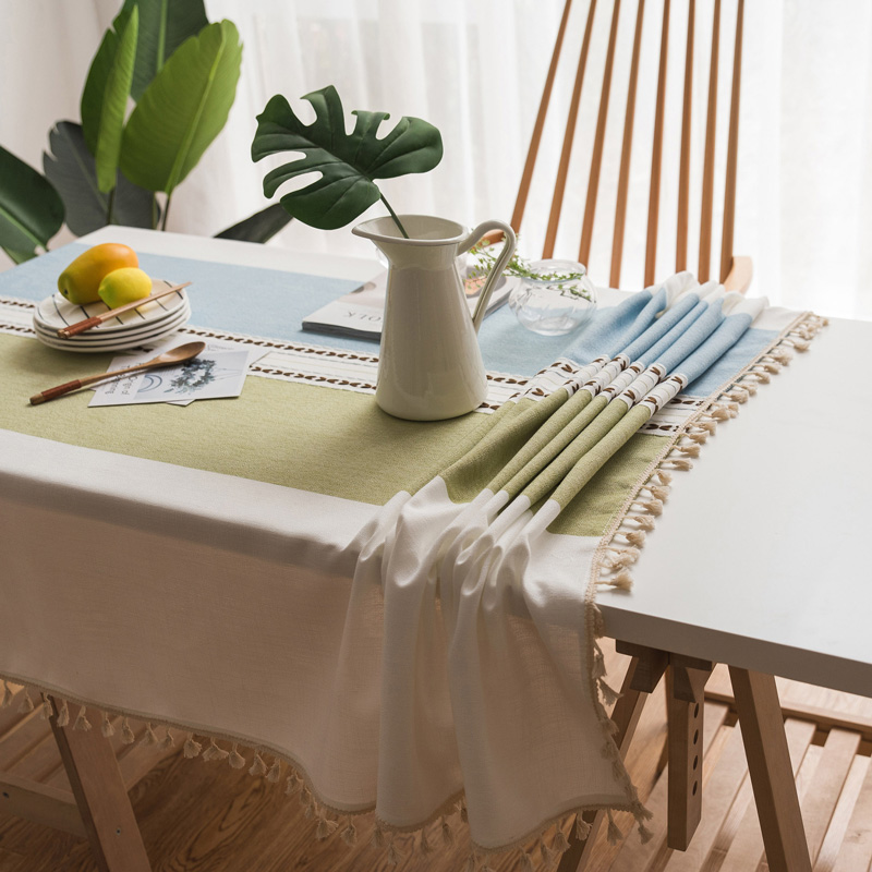 Table Cloth Cotton Linen Lace Tassel Tablecloth Rectangular Tablecloths Dining Table Cover Obrus Tafelkleed Mantel Mesa Nappe in Tablecloths from Home Garden