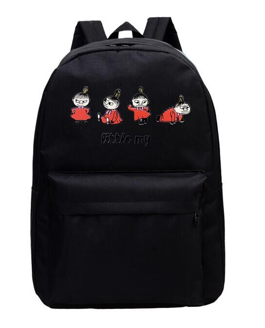 Women Canvas Bag Brand Genuine Quality Cartoon Print Backpack School for Teenager Girl Laptop Bag Printing