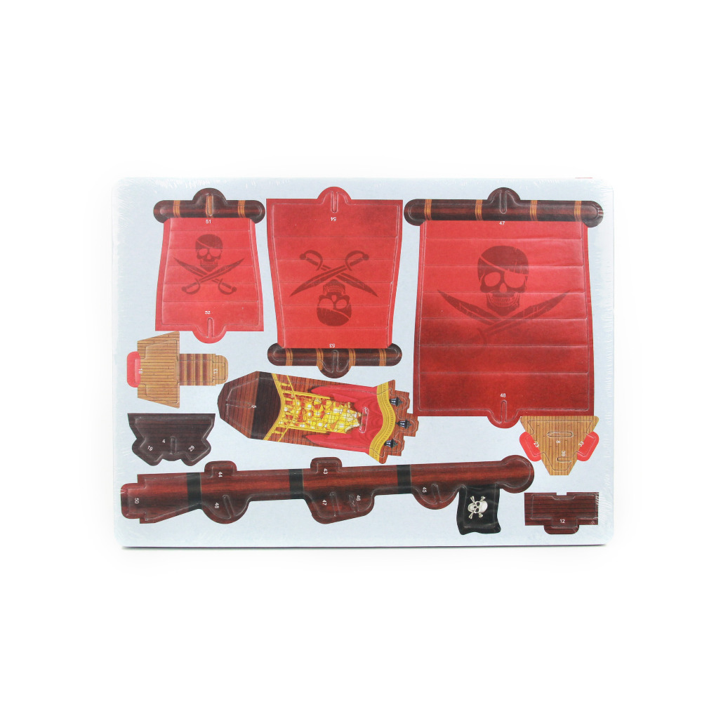 new transportation model 3d pirate boat jigsaw puzzles educational