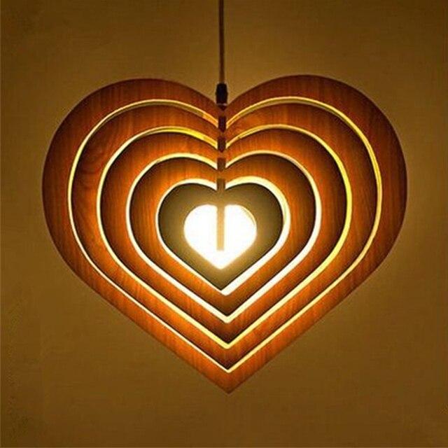 Aliexpresscom Buy Multiple Heart Wood Pendant Light Fixtures