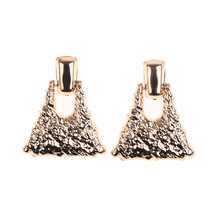 New Flash Earrings Europe and America Exaggerated Geometric Alloy Fine Jewelry