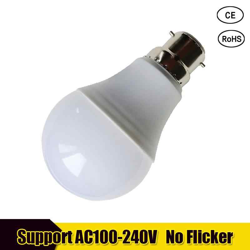 Real Power LED Bulb B22 LED Lampada Ampoule Bombilla 18W 15W 12W 9W 7W 5W 3W LED Light 220V 110V Cold/Warm White Led Spotlight