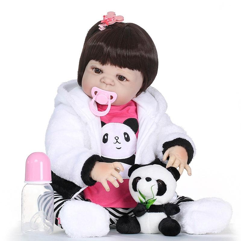 2018 New 55CM Vinyl Jointed Reborn Doll Lifelike Newborn Baby Dolls for Kids Playmate Christmas Gift 55cm vinyl jointed reborn doll lifelike kids baby dolls for infant playmate christmas gift m09