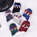 [COSPLACOOL] 9 Cor Meias Tripulação Meias de Inverno Bonito Japonês Harajuku Dos Desenhos Animados Bola Franjas Mulheres do Presente Do Natal Meias Calcetines