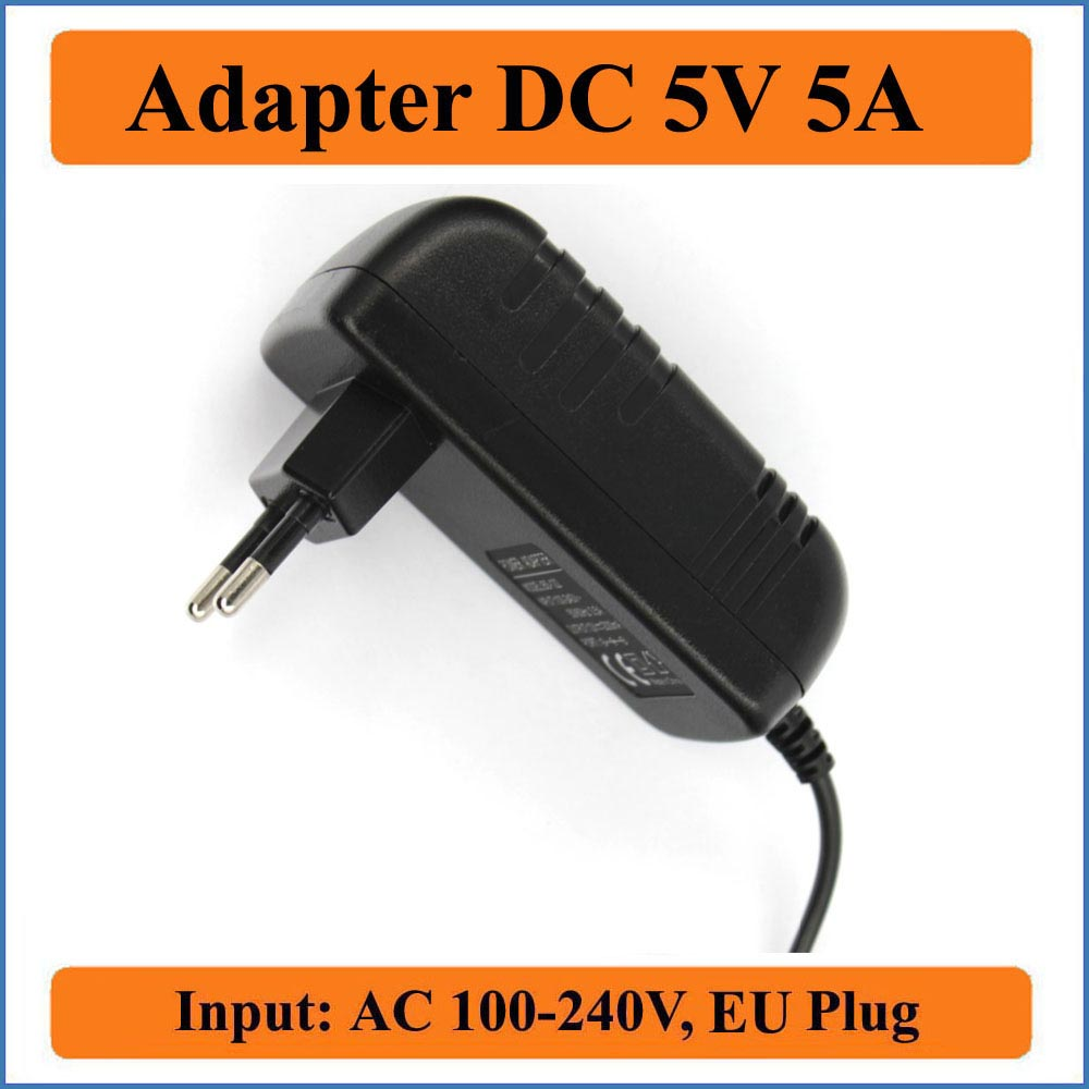 <font><b>5V</b></font> 5A EU Plug AC <font><b>DC</b></font> <font><b>Adapter</b></font> AC 100V-240V Converter <font><b>Adapter</b></font> to <font><b>DC</b></font> <font><b>5V</b></font> 5000mA chargers Power Supply 5.5mm x 2.1-2.5mm jack sizes image