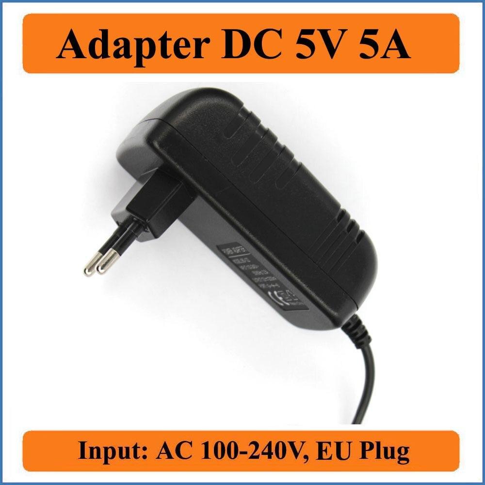 5V 5A EU Plug AC DC Adapter AC 100V-240V Converter Adapters to DC 5V 5000mA charger Power Supply 5.5mm x 2.1-2.5mm jack sizes 19v 9 5a 19 5v 9 2a ac adapter tpc ba50 power charger for hp 200 5000 200 5100 200 5200 aio envy 23 1000 23 c000 23 c100 23 c200