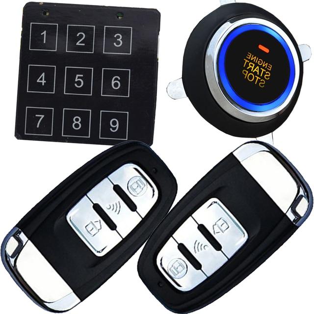 Auto Car Security Alarm System With Passwords Keyless Entry Lock Or Unlock  Car Door Long Distance