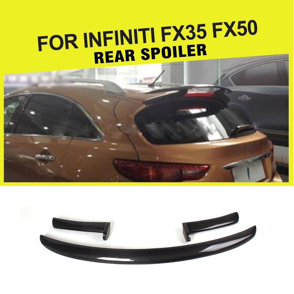Great Carbon Fiber Trunk Lip Spoiler Car Rear Wing Spoiler For Infiniti FX35 FX50