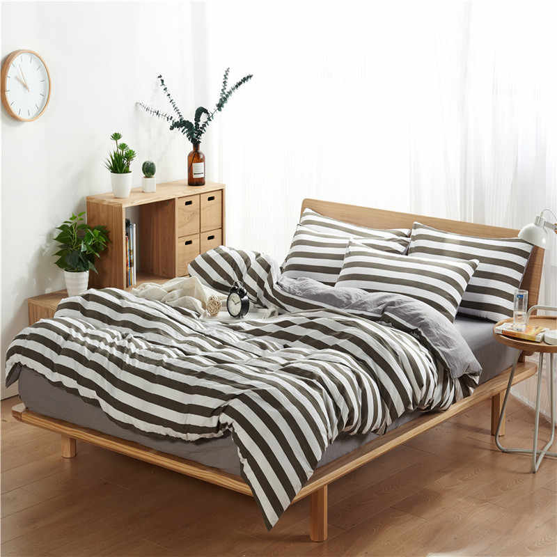 King Size Bedding Set Duvet Queen Cover Set Comforter Bedding Sets Stripe ADA01#