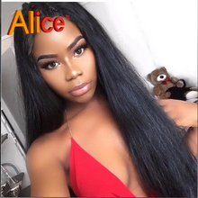 Alice 8A Human font b Hair b font Lace Front Wigs Black Women Full Lace Human