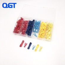 120 PCS T Tap Electrical Connectors Quick Wire Splice Taps and Insulated Male Quick Disconnect Terminals (Yellow, Red Blue) цена