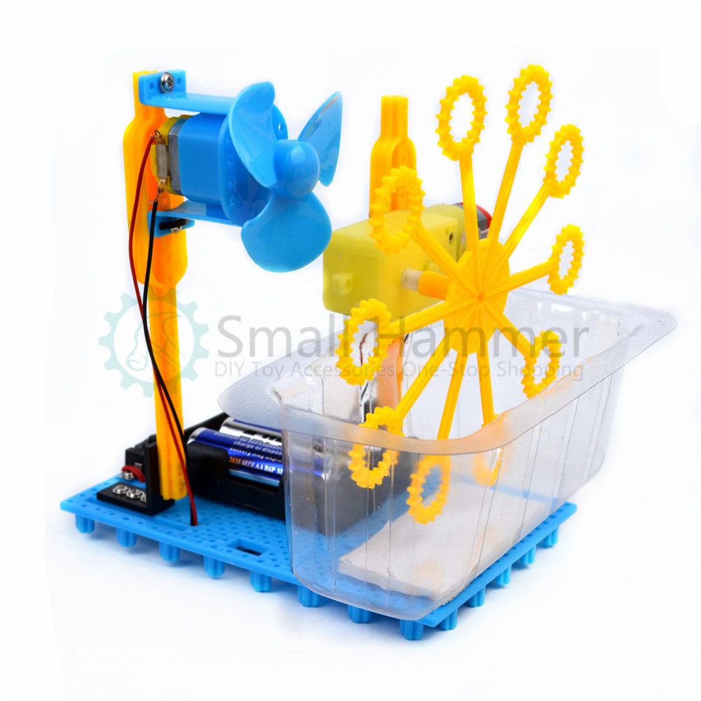 Small Hammer STEAM DIY Bubble Blister Robot Machine Educational Kit Handmade