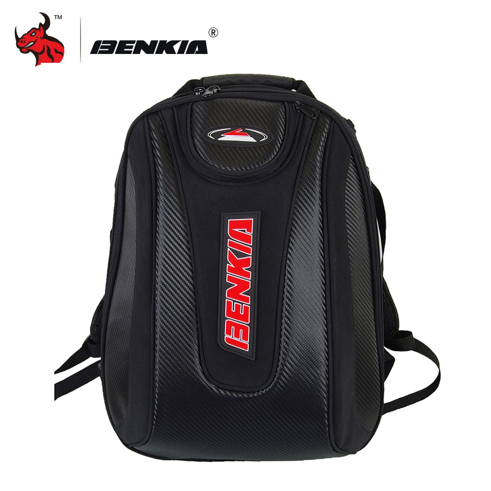 купить BENKIA Motorcycle Bag Waterproof Backpack Moto Helmet Backpack Luggage Moto Tank Bag Motorcycle Racing Backpack moto travel bag недорого