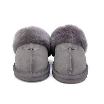 HABUCKN Natural Fur Slippers Fashion Female Winter  Slippers Women Warm Indoor Slippers Quality Soft Wool Lady Home Shoes 1