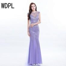 Wholesale lavender evening gown