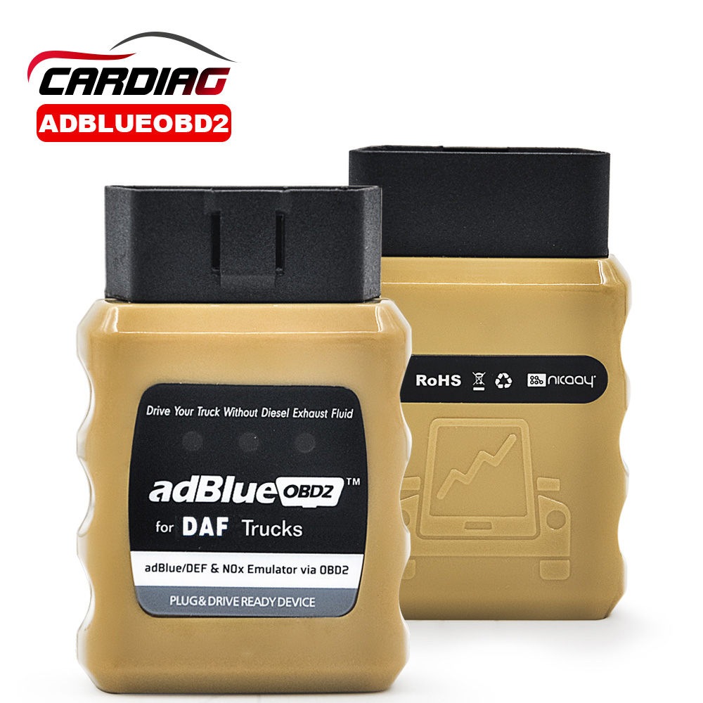 Prix pour AdblueOBD2 Pour DAF Camions Adblue OBD2 Pour DAF Adblue/DEF Nox Émulateur Via OBD2 Adblue OBD2 Scanner outil Livraison gratuite