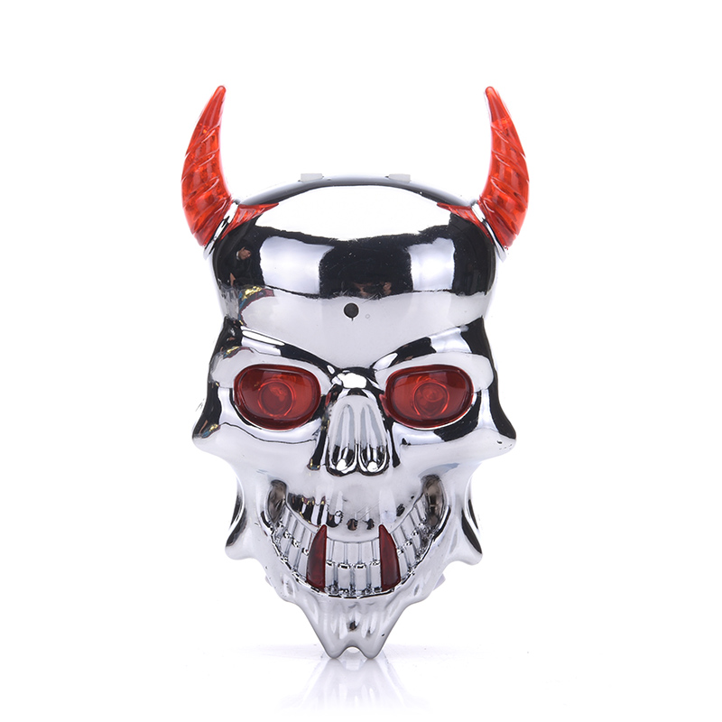 Bicycle lights laser taillights skull safety warning lights dead fly accessories riding equipment devil taillights