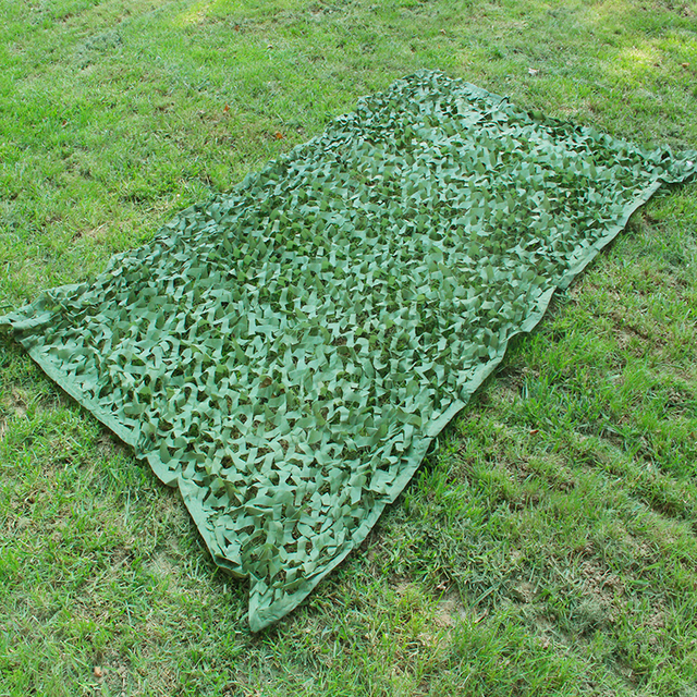 Army Green Camouflage Net Outdoor Camping Shelter Military Green Hunting Netting Hide Concealment Cover Net Camping Hiking Net