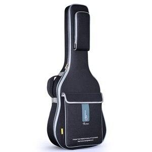 Image 1 - משלוח חינם 41 אינץ גיטרה אקוסטית תיק 36 אינץ נסיעות גיטרה מקרה 43 אינץ עממי גיטרה תיק כיסוי 42 אינץ כפול רצועת גיטרה תיבה