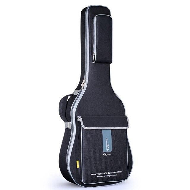 משלוח חינם 41 אינץ גיטרה אקוסטית תיק 36 אינץ נסיעות גיטרה מקרה 43 אינץ עממי גיטרה תיק כיסוי 42 אינץ כפול רצועת גיטרה תיבה