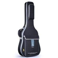 Ücretsiz kargo 41 inç akustik gitar çantası 36 inç seyahat gitar kılıfı 43 inç halk gitar çanta kılıfı 42 inç çift kayış gitar kutusu