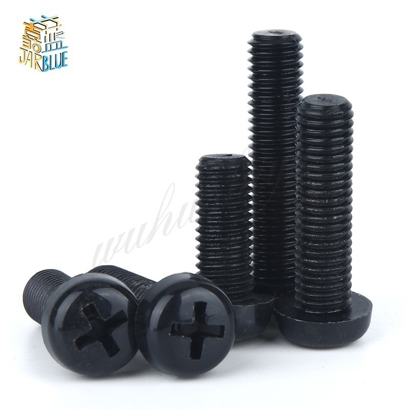 50Pcs M2.5 M3 M4 ISO7045 DIN7985 GB818 Nylon Cross Recessed Pan Head Screws Plastic Spacer Phillips Screw NL12 50pcs iso7045 din7985 gb818 m2 m2 5 m3 m4 cross pan head nylon screws plastic phillips screw nl07