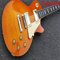 Custom Store Kpole 1959 R9 Les Tiger Flame Paul Electric Guitar Standard 59 Electric Guitar Without