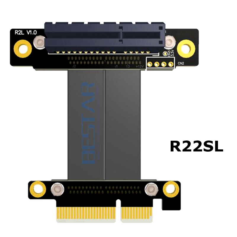 Riser PCI-E 3.0 pcie 4x male to pcie x4 4 pcie3.0 female Left Gen3.0 PCI Express Riser card graphics Extender extension Cable pci e to