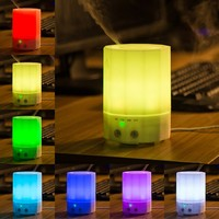 200ml Home Desktop Mini Aroma Diffuser with 7 Colors LED Mood Light Ultrasonic Air Humidifier Electric Essential Oil Mist Maker