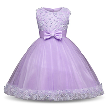 Flower Girls Wedding Party Princess Dresses for Children Pea