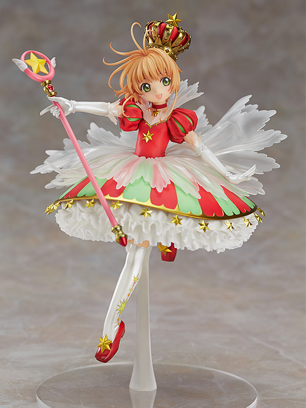 Card Captor Kinomoto Sakura 1/7 Scale Painted Figure 15th Anniversary Sakura Doll PVC Action Figure Collectible Toy 26cm KT3366 1set 14cm pvc japanese anime figure sakura kinomoto battle costume ver cardcaptor sakura figfix 008 action figure collectible