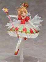 Card Captor Kinomoto Sakura 1/7 Scale Painted Figure 15th Anniversary Sakura Doll PVC Action Figure Collectible Toy 26cm KT3366