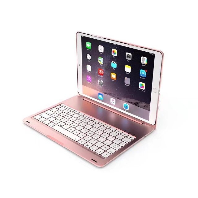 Ultra Slim Aluminum Bluetooth Keyboard Case Cover For Apple Ipad Pro 10.5 New Tablet 2017 7 Colors Backlight
