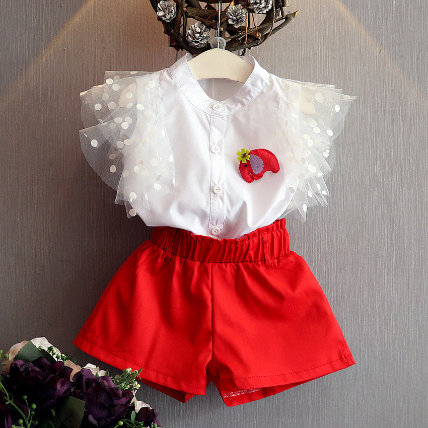 girls children clothing 2017 new summer girls sets top white sleeveless blouse+red shorts 2pcs girls summer suit kids clothes inc international concepts new white sleeveless linen blouse 2 $48 99 dbfl