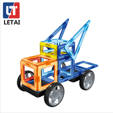 LETAI 87pcs Big Size Magnetic Building Blocks Ferris Wheel Brick Designer Enlighten Funny Bricks Toys Children