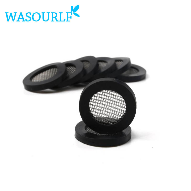 10 pcs / lot G1/2 , 20mm , Free shipping shower head filter rubber shower nozzle hose rubber gasket stainless steel filter