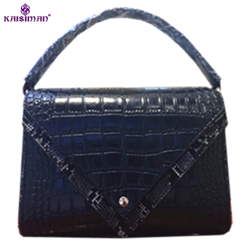 Genuine Leather Women Bag Crocodile Pattern Ladies Handbags High Quality Natural Leather Shoulder Bag Female Casual Tote Bag Sac 2018 yuanyu 2016 new women crocodile bag women clutches leather bag female crocodile grain long hand bag