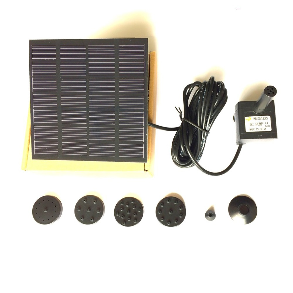 1.2W Solar Panel Power Water Pump Kit for Pool Garden Pond Birdbath Fountain Submersible Watering Pump With Floating Ring free shipping clb series submersible water pump for pond