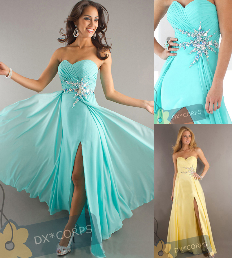 free shipping 2013 new design hot seller chiffon custom size/color Sexy Slit Long Woman's rhinestone zippers   Bridesmaid     Dresses
