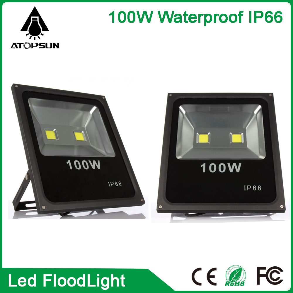 6pcs 100W LED Flood Light Waterproof IP65 LED Floodlight Landscape outdoor lighting Lamp Warm/Cold White Drop shipping waterproof led flood light 50w warm cold white rgb yellow remote control outdoor lighting led floodlight spotlight led lamp
