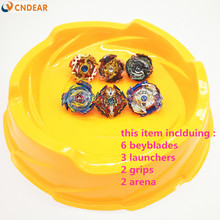 Beyblade arena orange stadium Beyblade Burst With Launcher handles B73 B74 B86 B92 B97 B100(China)