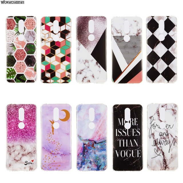 Granite Marble Texture Pattern Phone Case For Nokia 7 1 2018 Ta 1085 1095 1096 1100 Luxury Silicone Soft Imd Cover Capa