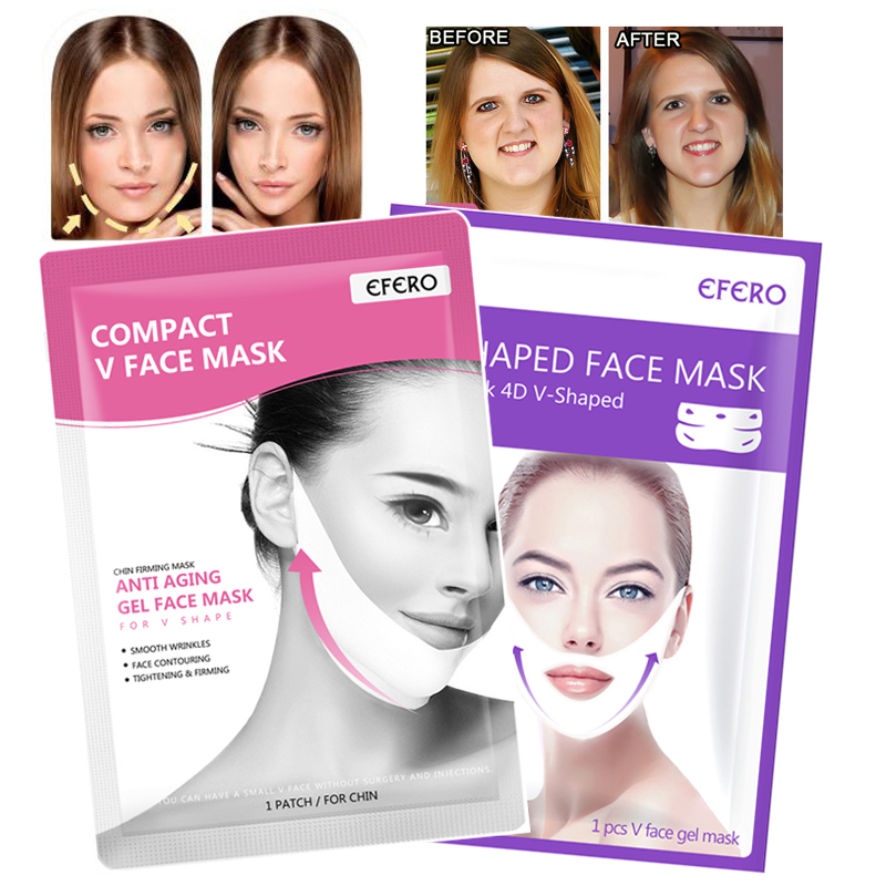1/2/3pcs V Shape Mask Face Lift Face Slimming Lifting Mask Sleeping Face Mask Reduce Double Chin Anti Aging Beauty Face Masks