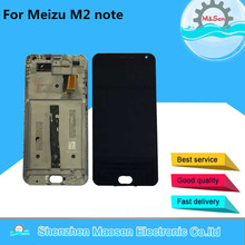 "M&Sen For 5.5"" Meizu m2 Note meilan note 2 LCD screen display+touch panel digitizer with frame  black free shipping"