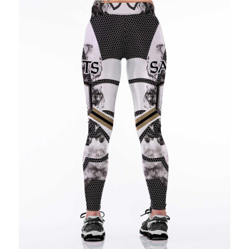 Unisex Football Team Saints 16 Print Tight Pants Workout Gym Training Running Yoga Sport Fitness Exercise Leggings Dropshipping 1