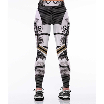 Unisex Football Team Saints 16 Print Sport Fitness Leggings